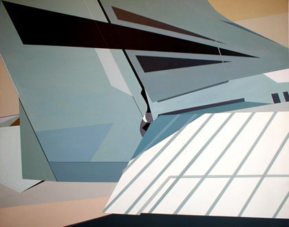 Cessna on Runway<br> 2003<br> Acrylic on canvas<br> 48 x 60 inches (122 x 153 cm)